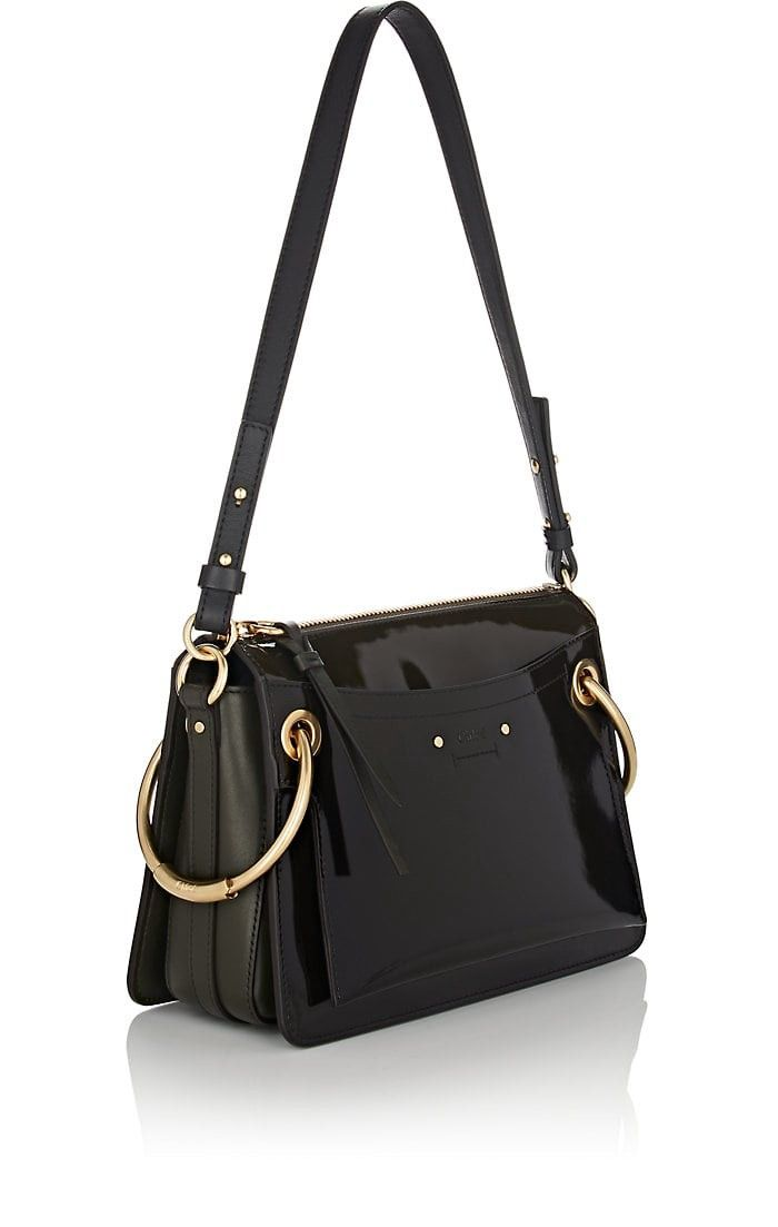 80303f0640a7 Chloe Roy Small Leather Shoulder Bag - Dk. Green 1 Sz