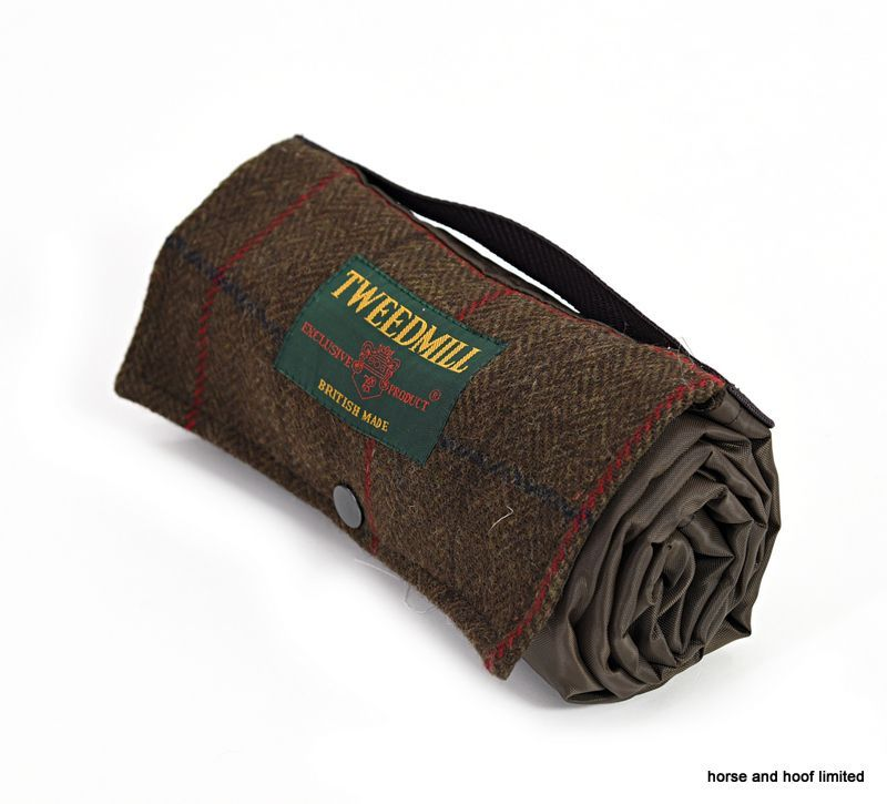 Tweedmill Walker Companion Tweed Picnic Rug With Waterproof Backing Brown Rugs Textiles