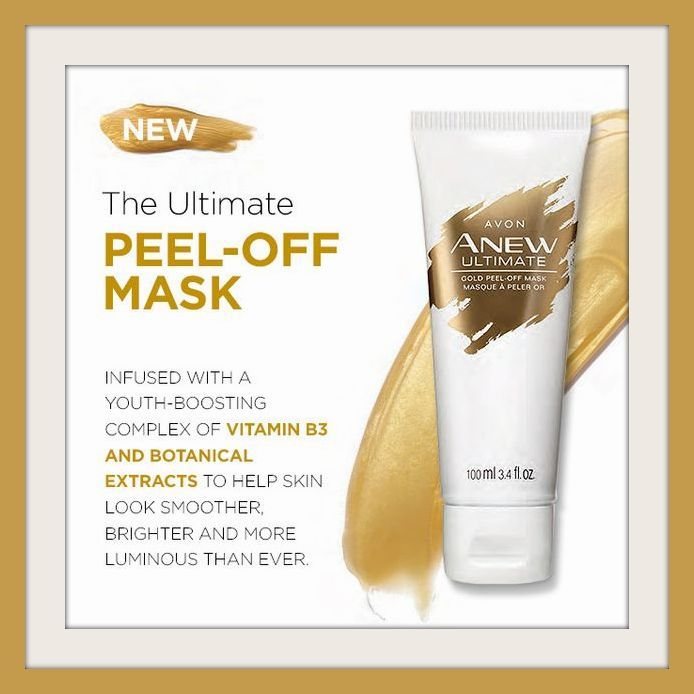 Look Radiant After Using The Luxurious Gold Mask Infused With A Youth Boosting Complex Of Vitamin B3 And Bota Avon Skin Care Peel Off Mask Avon Anew Ultimate