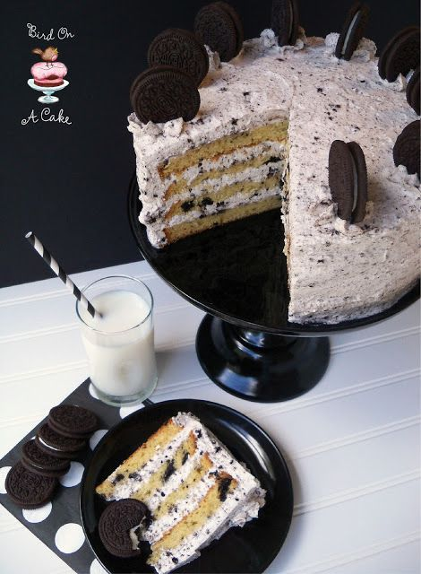 Oreo Cookies and Cream Cake #cookiesandcreamfrosting