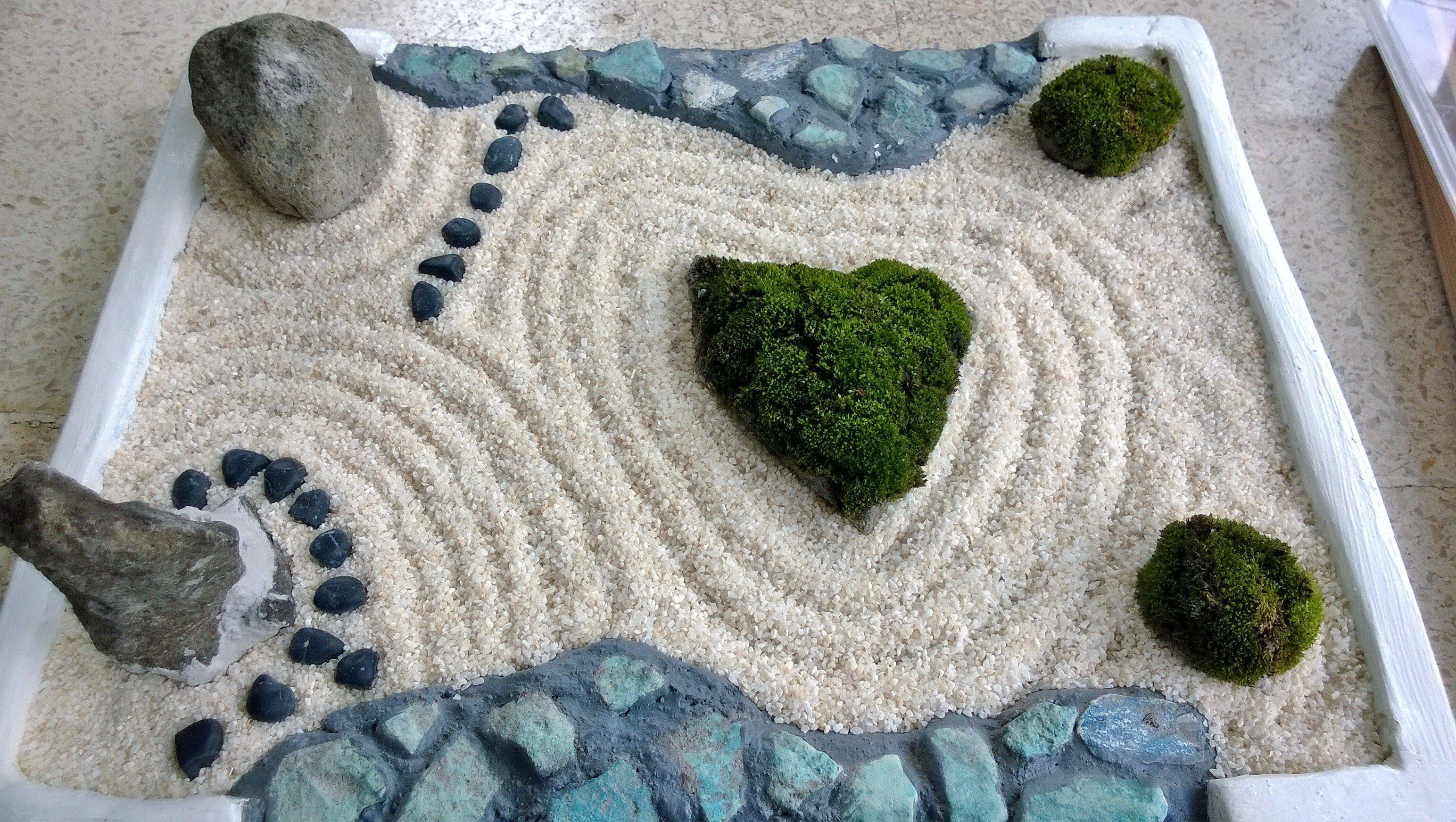 mossy heart mini zen garden mini zen garden pinterest