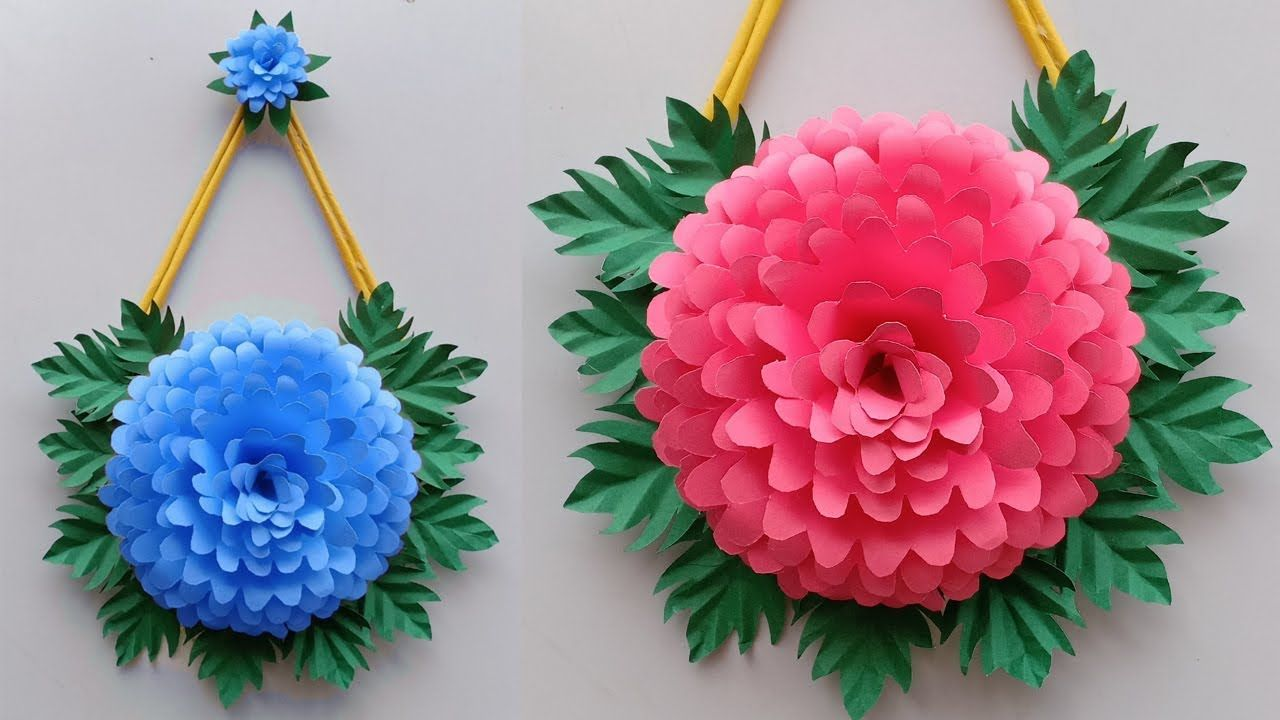 Paper Craft Wall Hanging Craft Ideas Room Decoration Diy Art And Cr Wall Hanging Crafts Paper Crafts Paper Flowers Craft