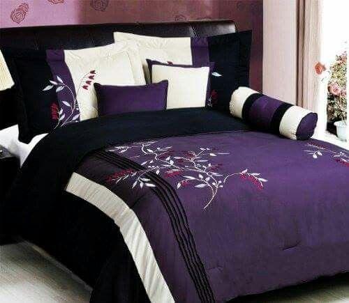 Purple And White Bedding Purple Bedding Purple Comforter Black Bed Set