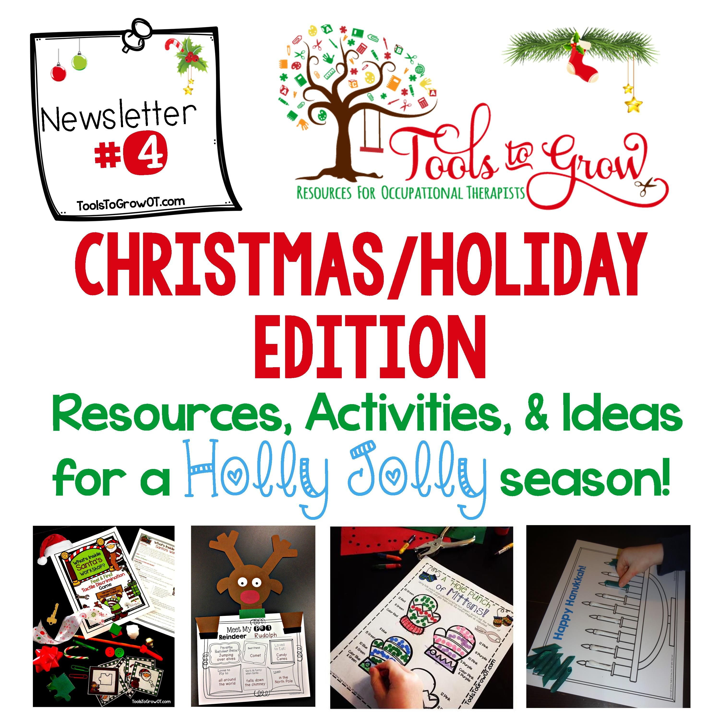 ChristmasHoliday Newsletter From Tools To Grow  Christmas