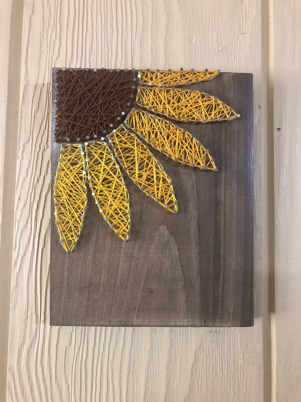 Photo of Sunflower String Art, Sunflower Decor, Sunflower Bathroom Decor, Sunflower Wall Decor, Sunflower Lover, Sunflower Art, Fall Sunflower Decor