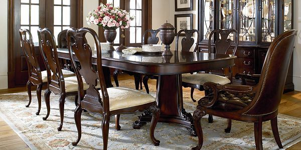 Brompton hall dining room furniture by thomasville for Dining room tables thomasville