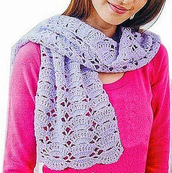 Bufandas juveniles con sus patrones | Crochet y dos agujas | gorros ...