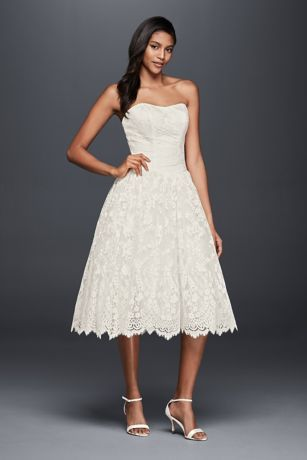 This Timeless Short Lace Wedding Dress Is Designed With All The