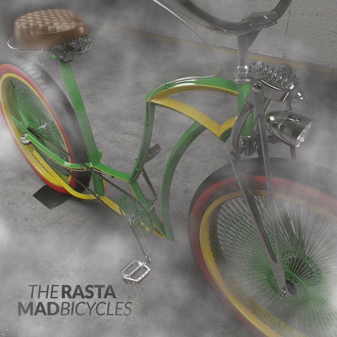 RastaMAAAN !! ..well actually it's a ladyframe. #rasta #jamaica #weed #smoke #customlife #bicycle #reggae