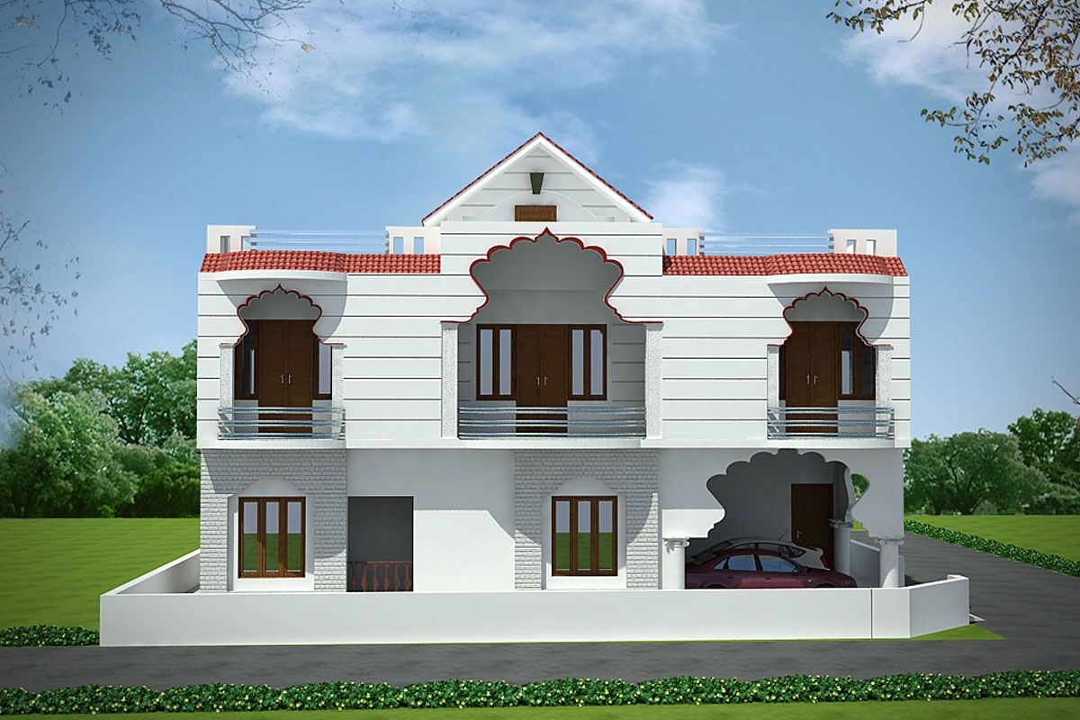 Village Indian House Modern Exterior Window Design In India Decoomo