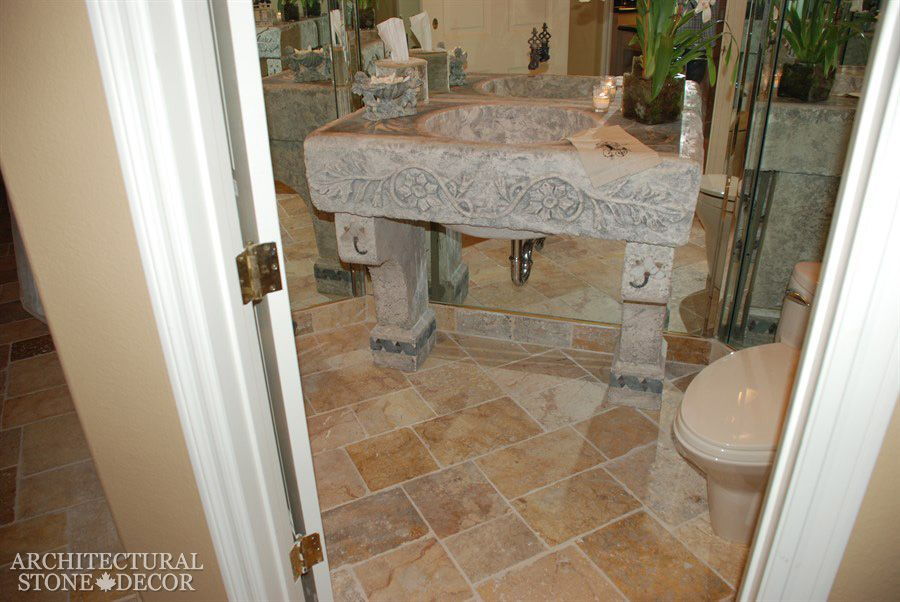 antique #stone #carved #bathtubs #showers #limestone #tubs #sink ...