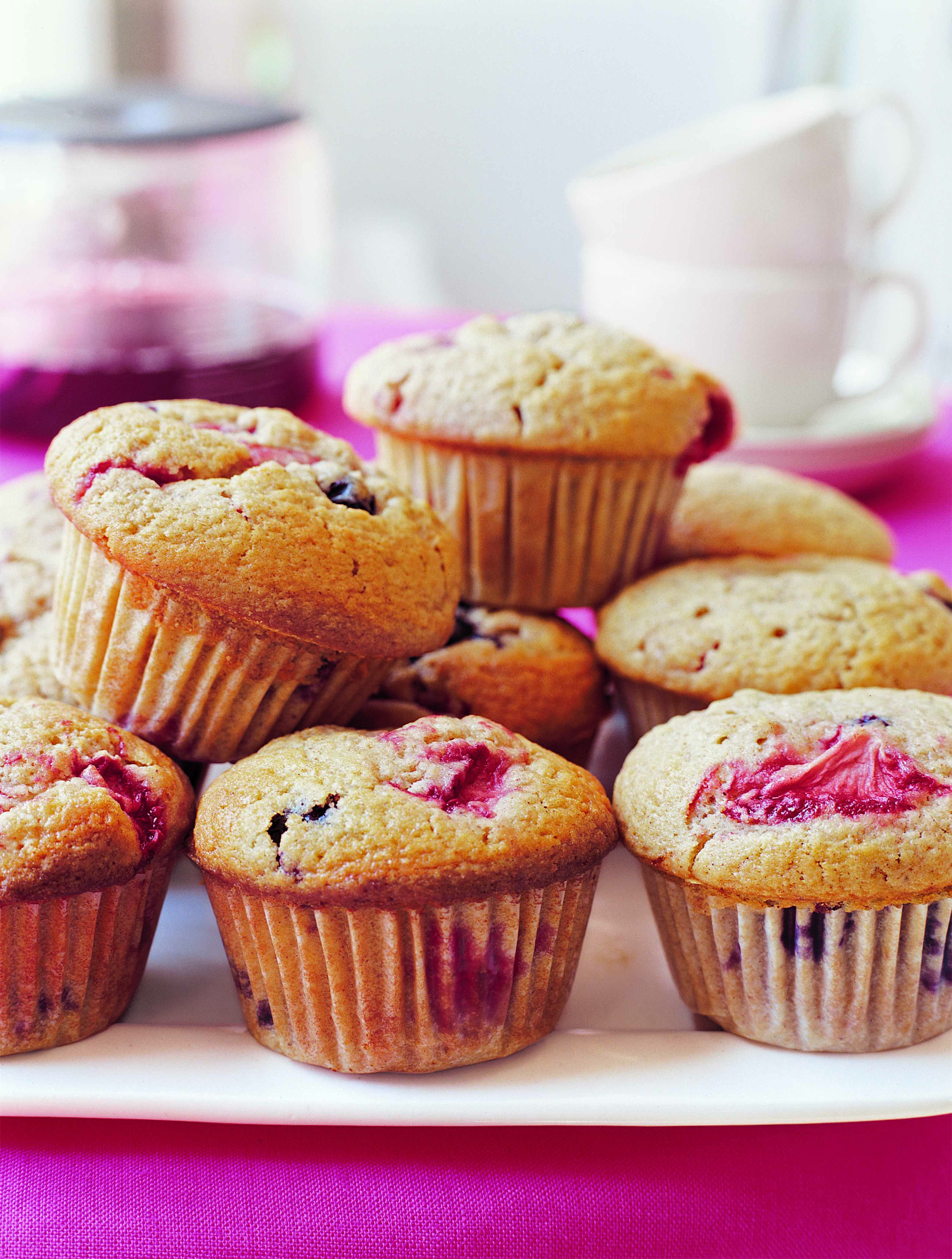 tri- berry muffins | berry muffins and muffin