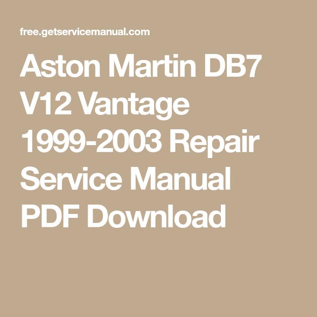 aston martin vantage service manual