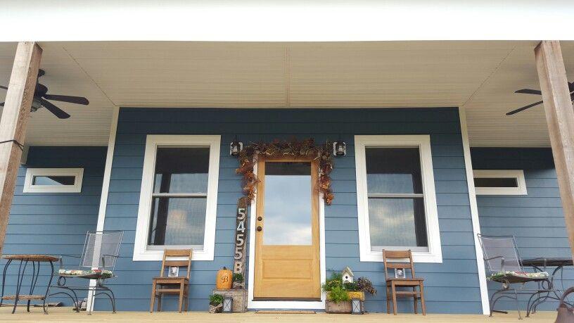 Farmhouse sherwin williams bunglehouse blue exterior