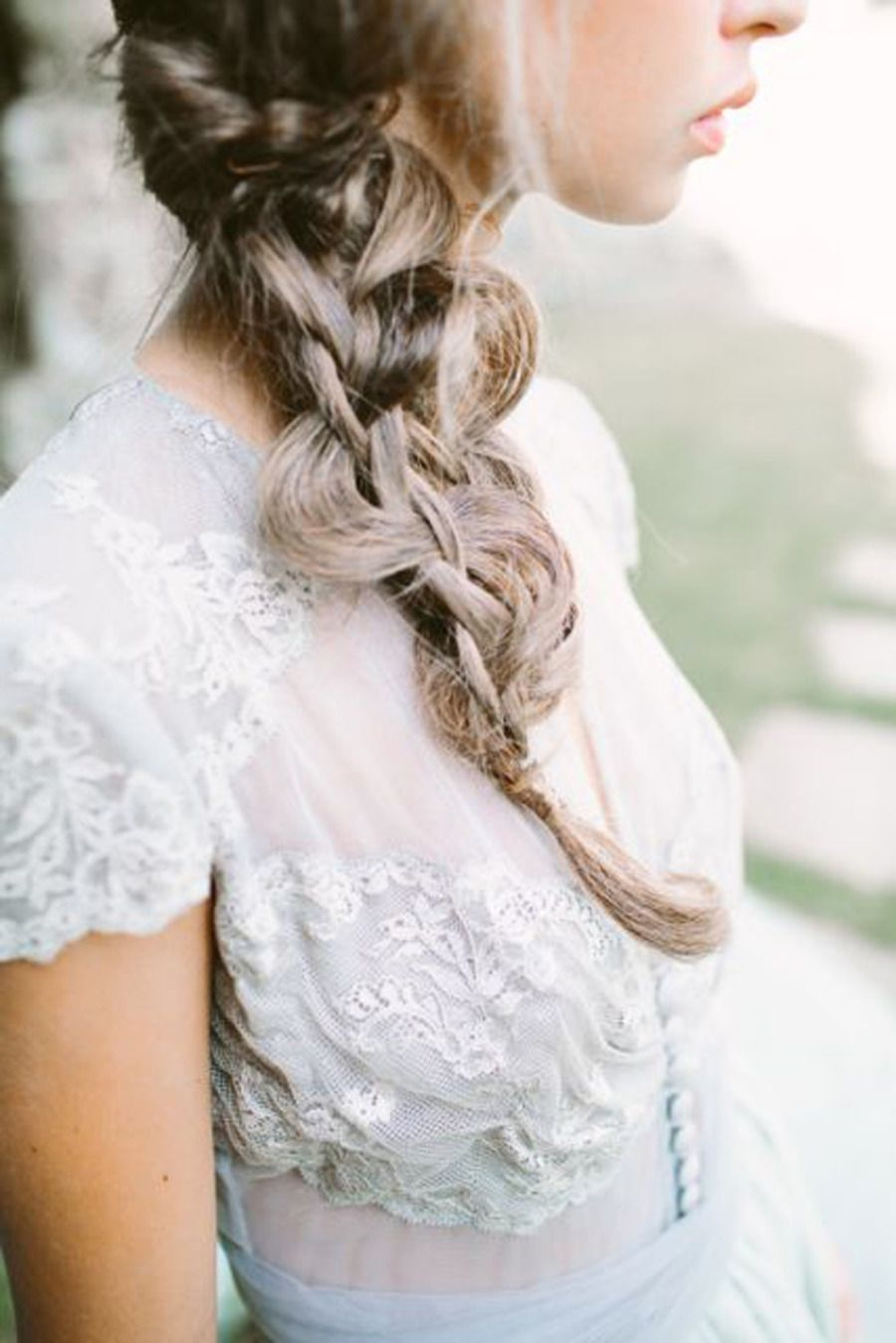 Romantic Grey & Gold Wedding Inspiration | Braid hair, Gold weddings ...