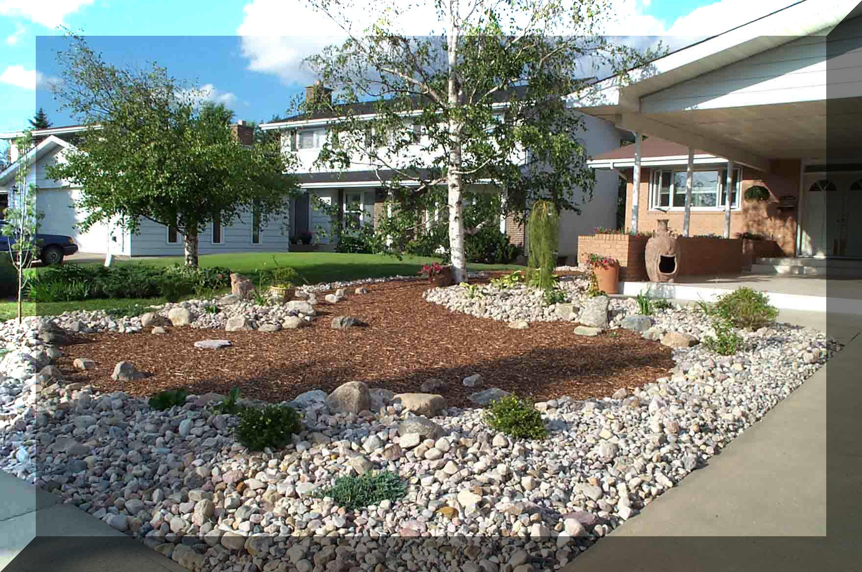 Charming Front Yard Xeriscape Ideas Part - 6: Small Landscape Bed Xeriscape Rocks + Front Yard - Google Search | Zahrada  | Pinterest | Front Yards, Yards And Landscaping