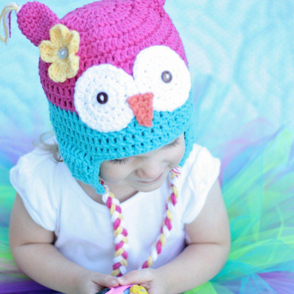 Free Owl Hat Crochet Pattern | Gorros