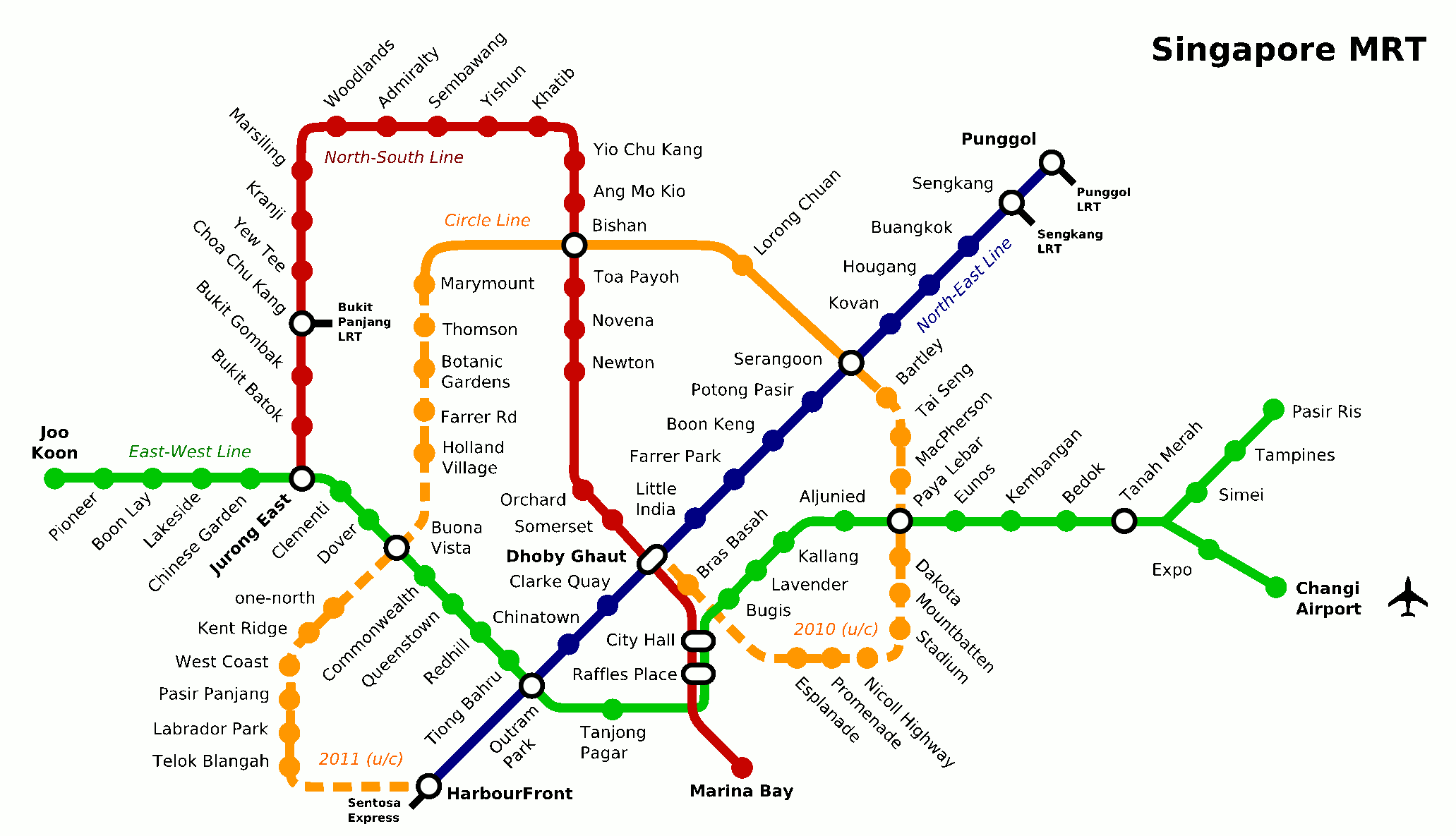 Singapore Subway Map Pdf
