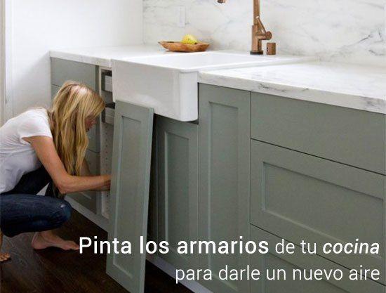 Paso a paso para pintar los armarios de tu cocina | arreglar ...