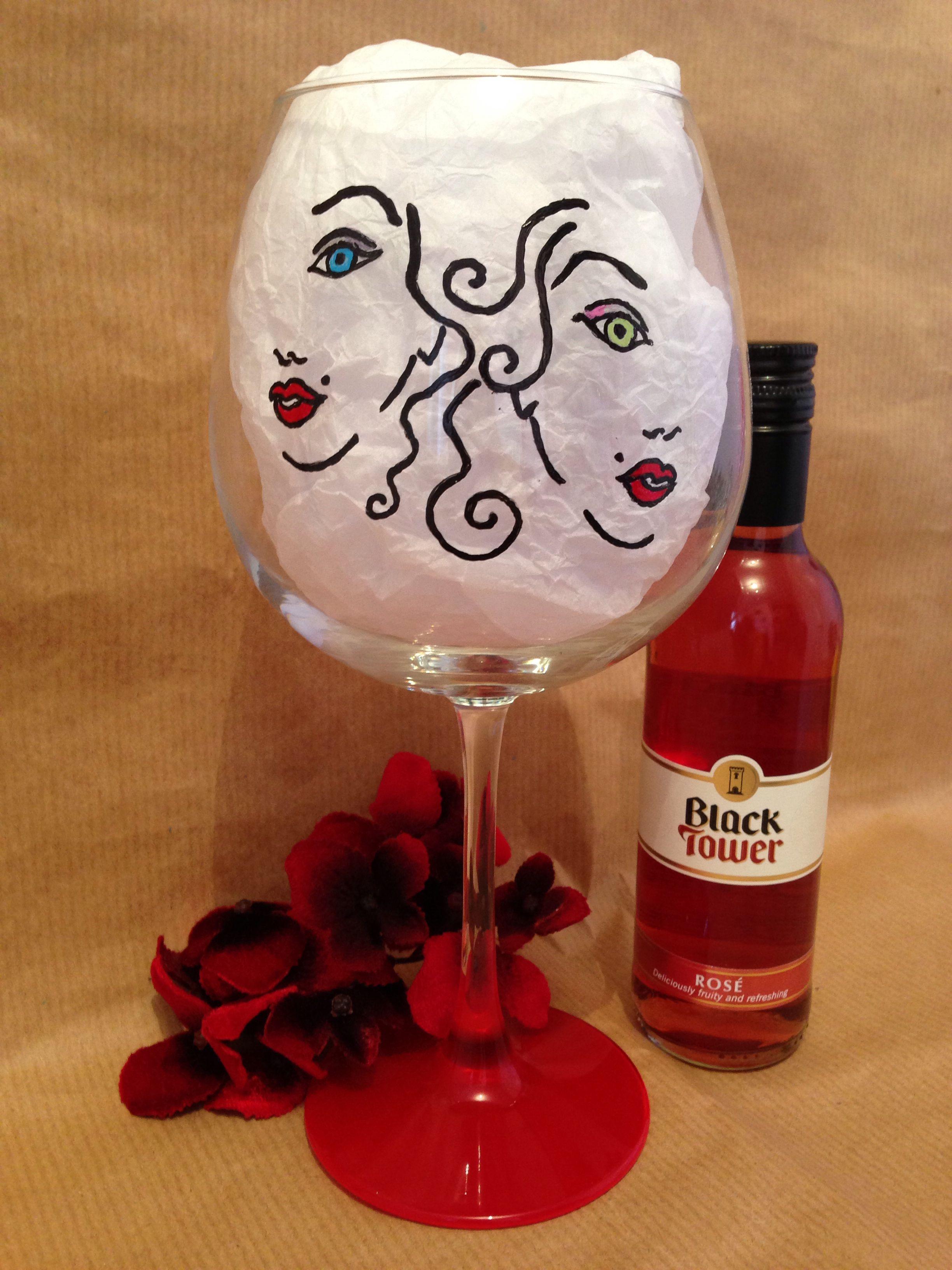 Hand Painted Wine Glass Painted Wine Glass Hand Painted Wine Glass Hand Painted Wine Glasses