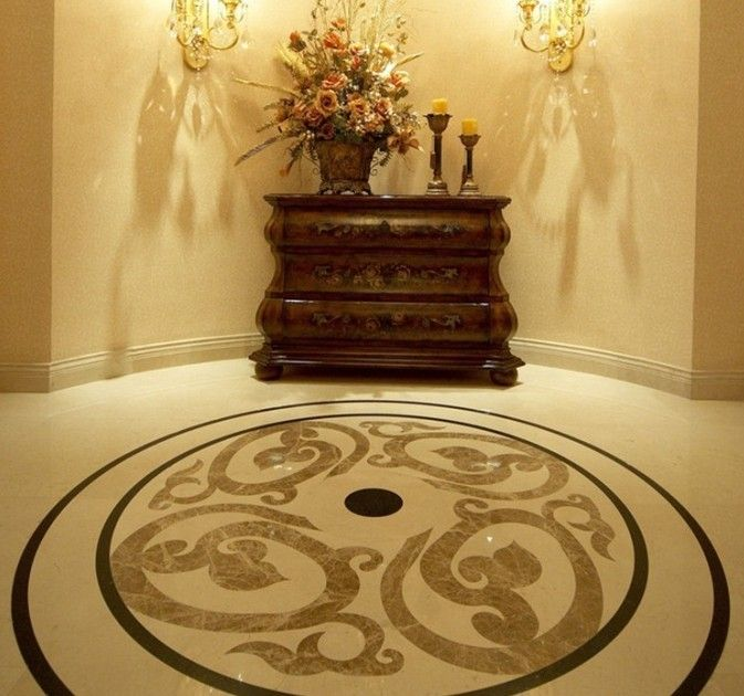 Affordable Marble Home Decor: Cheap Water Jet Medallion