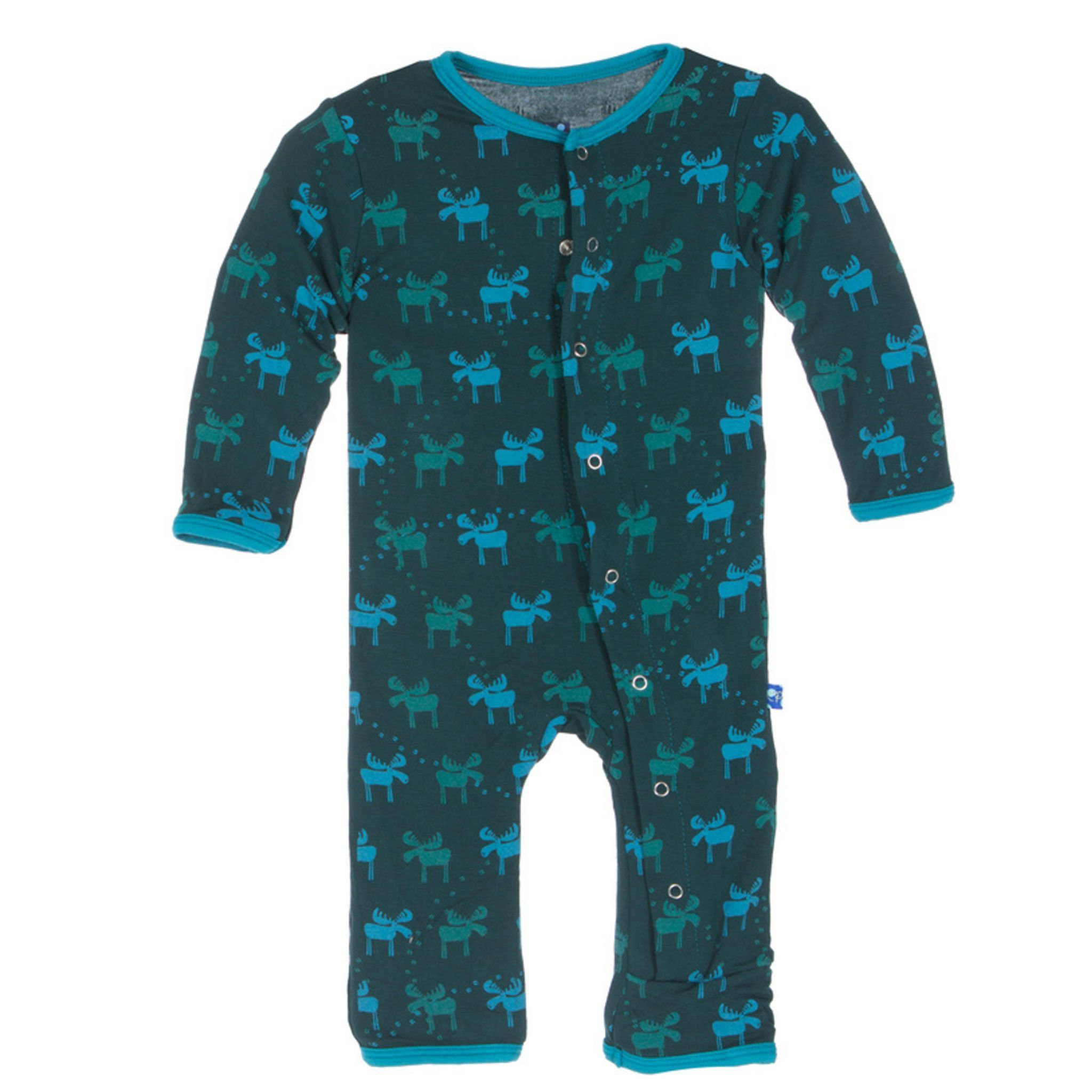157f359a4 PREORDER Kickee Pants Pine Moose Print Coverall. Find this Pin and more on  Products by My Cup of Tea Baby.