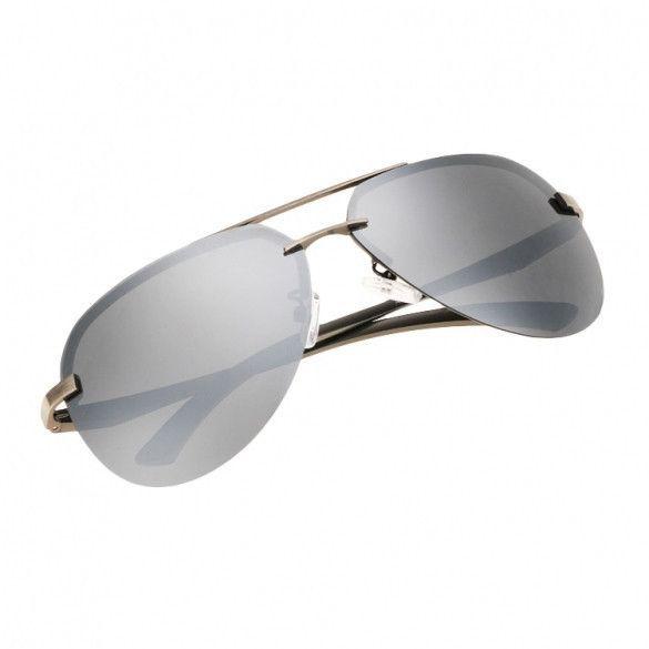 02b20b19669 Men Polarize Metal Frame Round Casual Outdoor Sunglasses