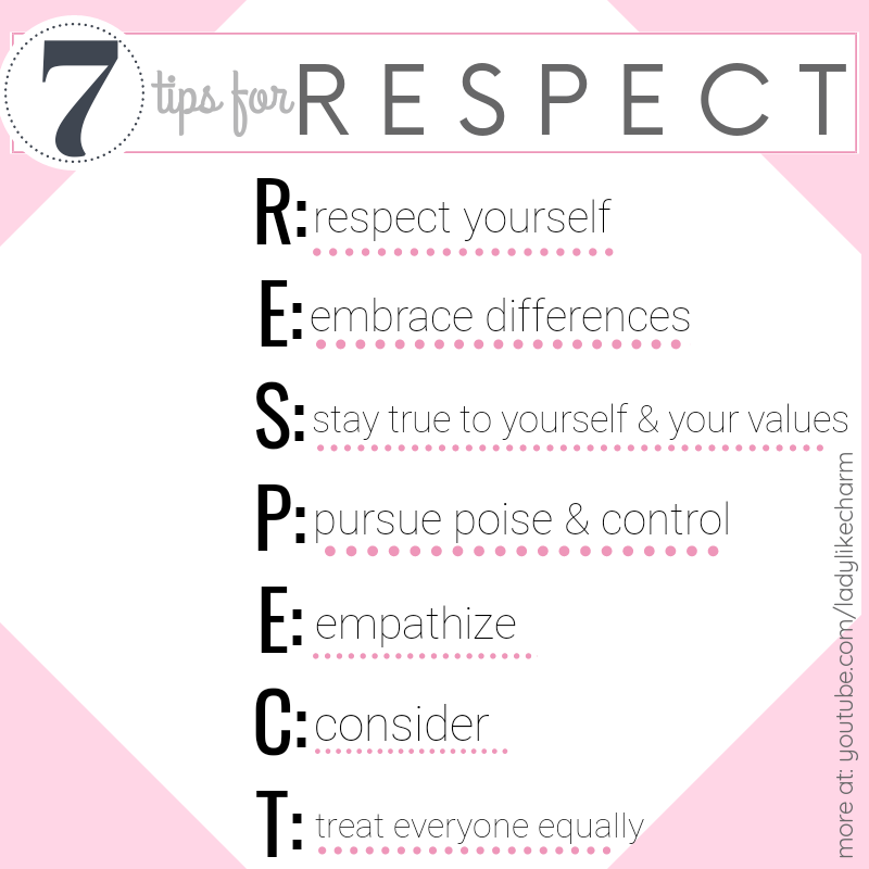 7 Tips For Respect Be True To Yourself Tips Respect