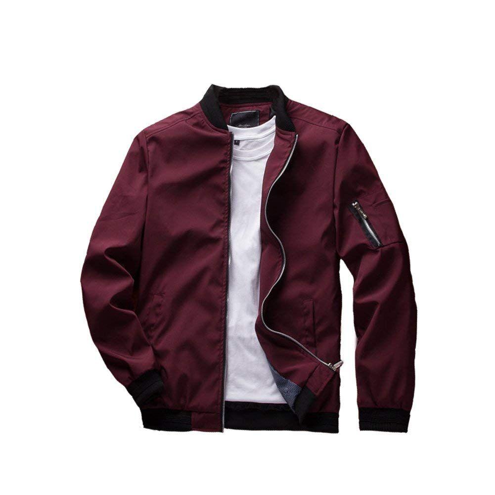 Urbanfind Men S Slim Fit Lightweight Sportswear Jacket Casual Bomber Jacket At Amazon Men S Cloth Red Bomber Jacket Men Red Bomber Jacket Casual Bomber Jackets [ 1001 x 1001 Pixel ]