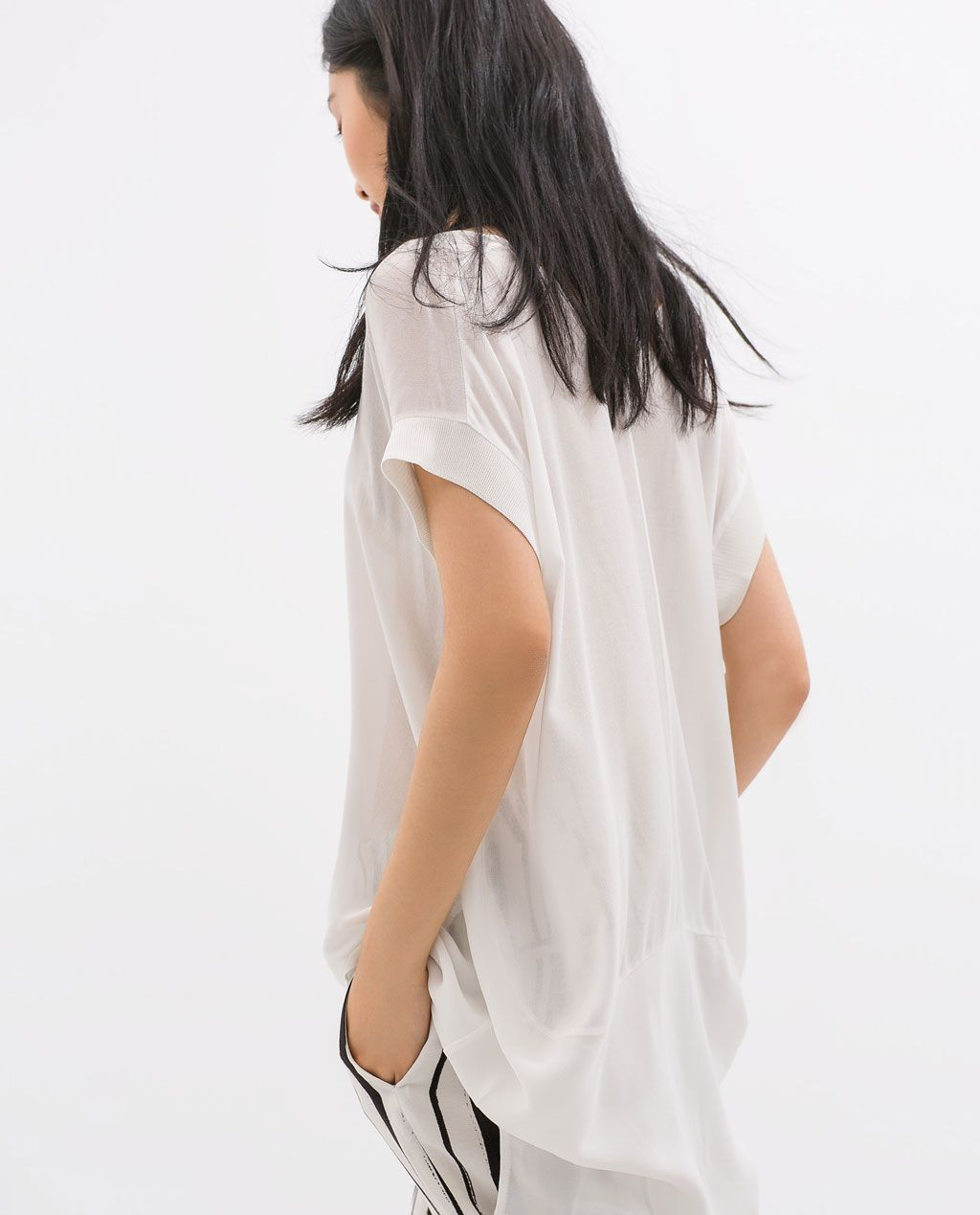 Image 5 of SHORT SLEEVED T-SHIRT from Zara