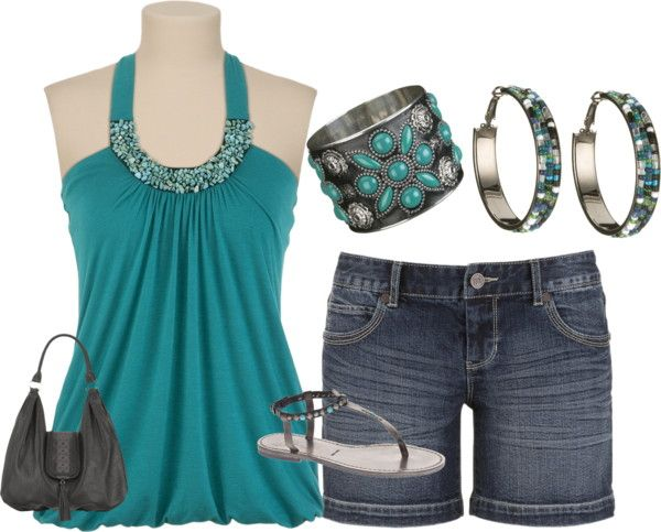 """jean short contest"" by lynn75 ❤ liked on Polyvore"