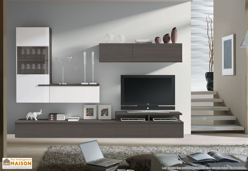 ensemble meuble tv mural berlin 2 coloris design. Black Bedroom Furniture Sets. Home Design Ideas