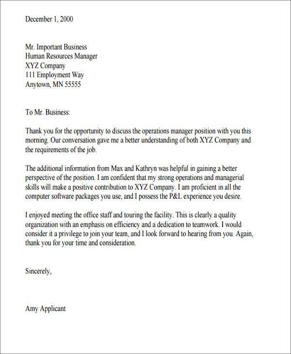 appreciate letter to employee