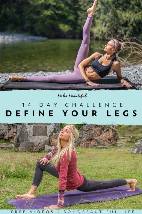 14 Day Define & Sculpt Your Legs Challenge - Boho Beautiful