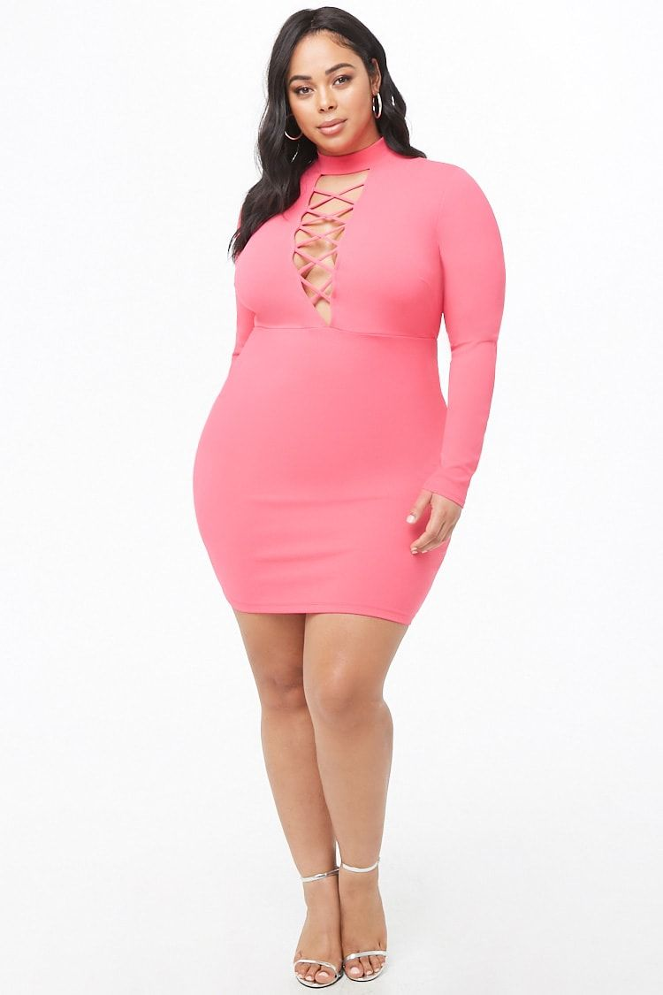 Plus Size Plunging Bodycon Dress | Beautiful Curves in 2019 ...