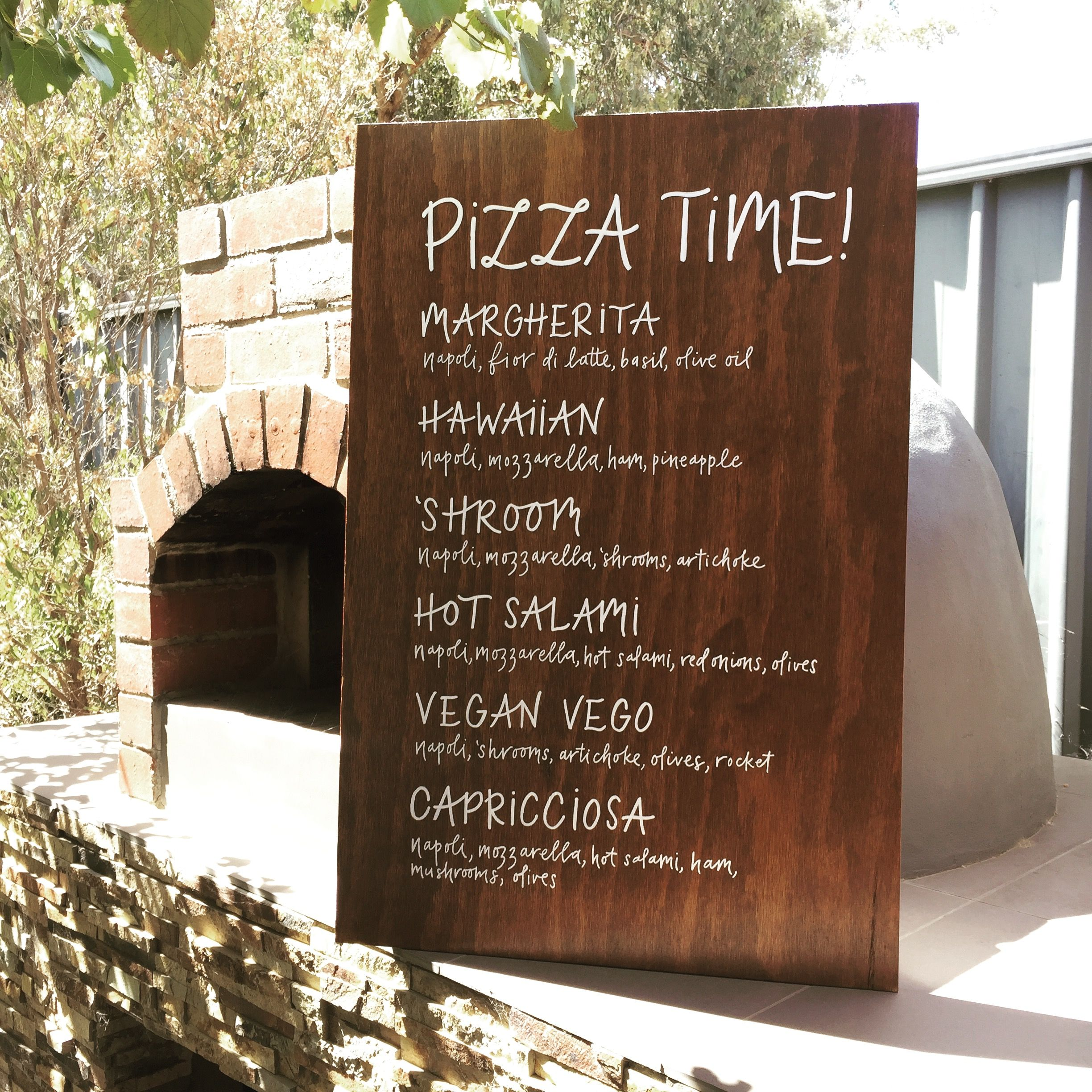 Pizza time  Pizza sign  Welcome sign  Wedding sign  Wedding