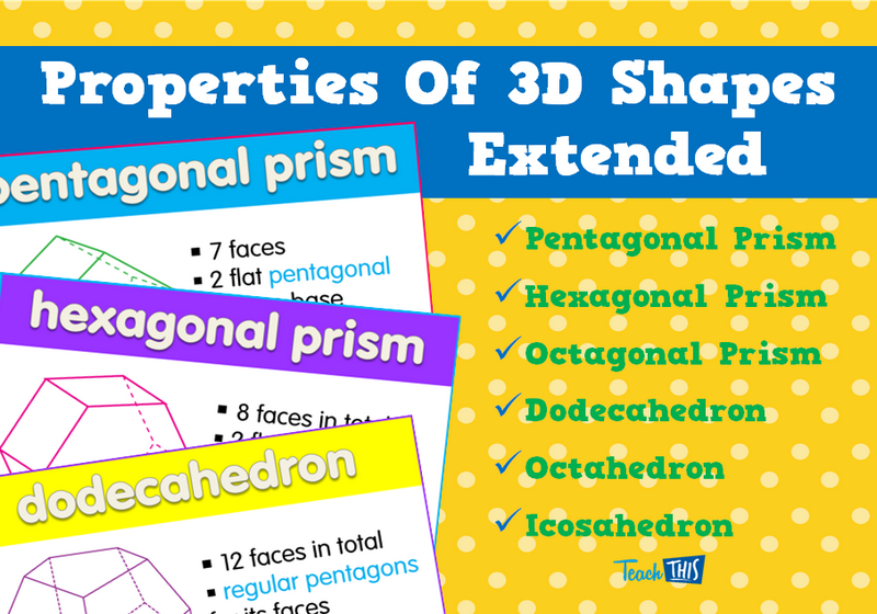 Properties Of 3D Shapes Extended | Math | Pinterest | 3d shapes ...