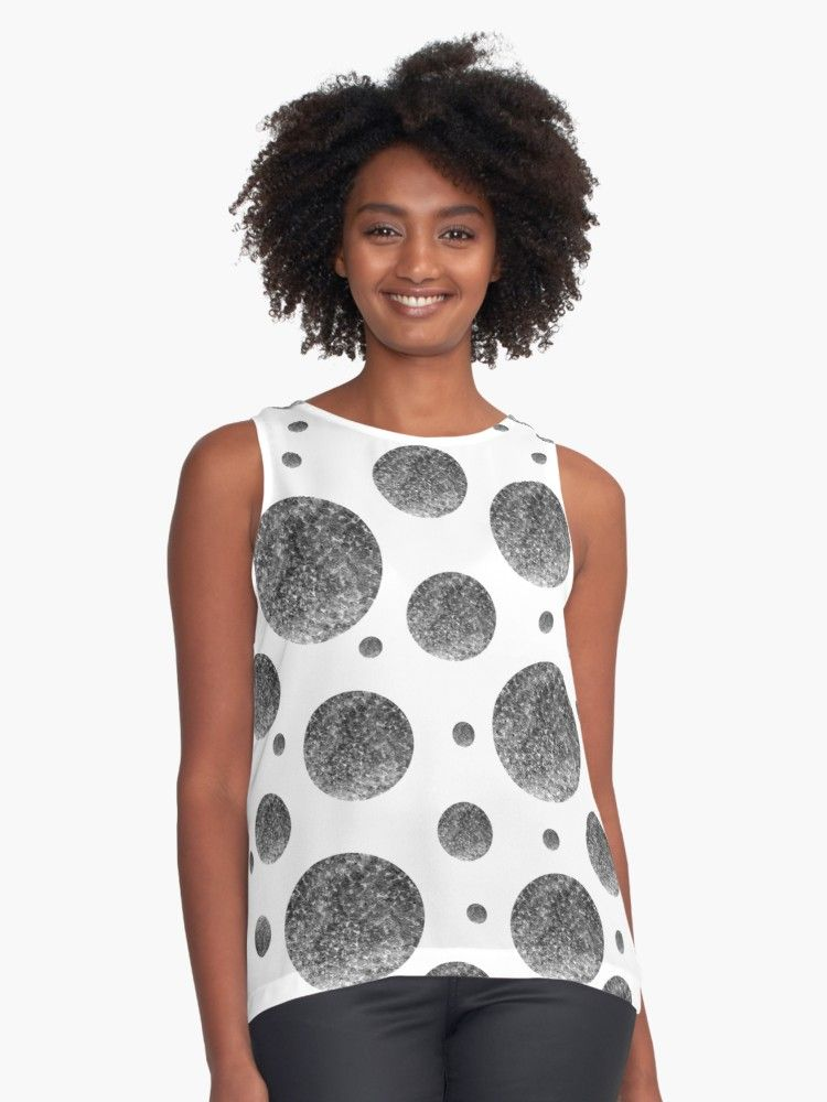 b8fb572ffd243 Buy  Black and White Spheres on White  by Roanemermaid as a Graphic T-Shirt