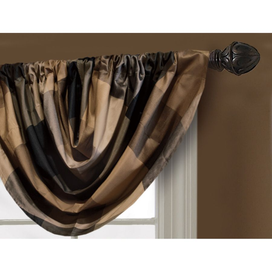 Shop allen roth in l onyx emilia waterfall valance at lowes