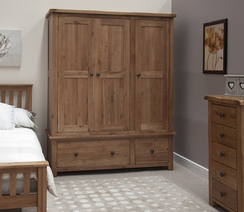 Organize Your Stuff With A Wardrobe With Drawers In 2020 Oak Furniture Solid Oak Furniture Rustic Oak Furniture