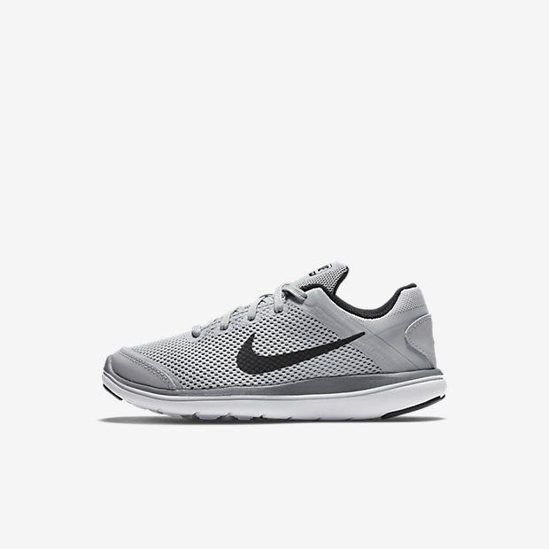 27d49a6b7694 ... Black White Nike Flex 2016 RN (10.5c-3y) Little Kids  Running Shoe Nike  Kids Free RN (Big ...