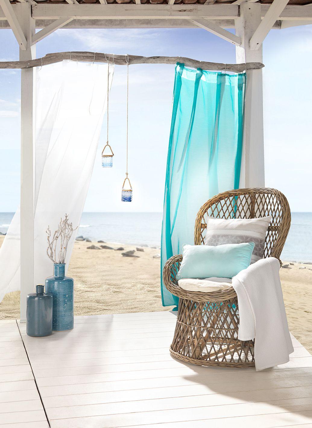 Sessel aus HolzGeflecht Maritimer StrandhausFlair für