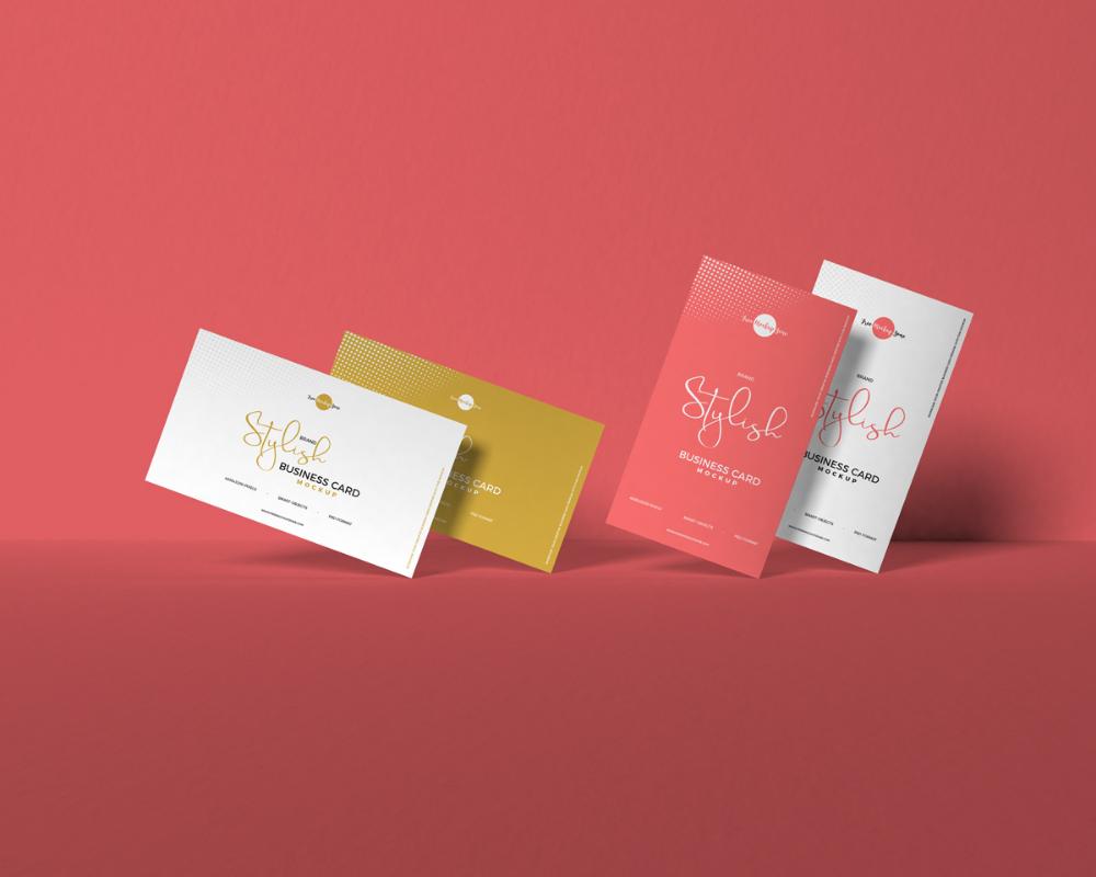 Free Brand Stylish Business Card Mockup On Behance Free Business Card Mockup Business Card Mock Up Stylish Business Cards