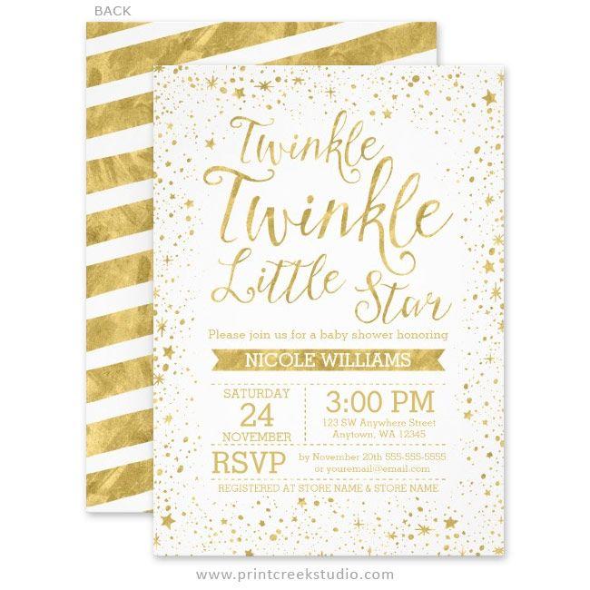 twinkle little star baby shower invitations in 2018 twinkle