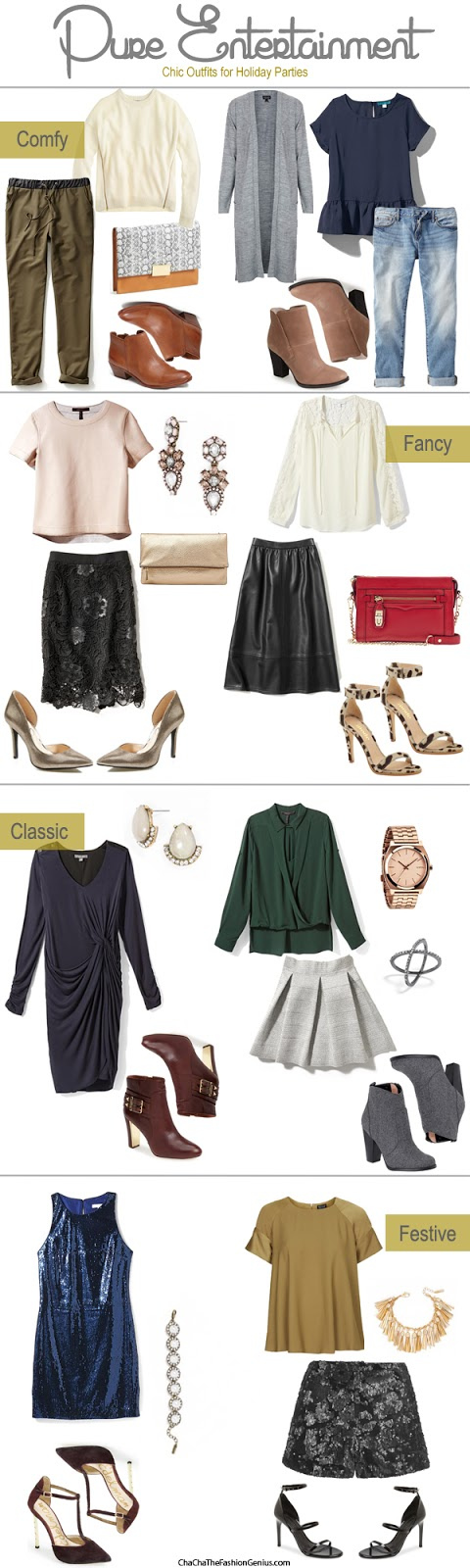 Holiday Party Outfit Ideas {Comfy, Fancy, Classic, & Festive}