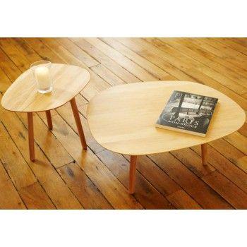 Table Basse 3 Pieds En Bois Massif Par Reine Mere Table Basse Table Basse Bois Table Basse Chene