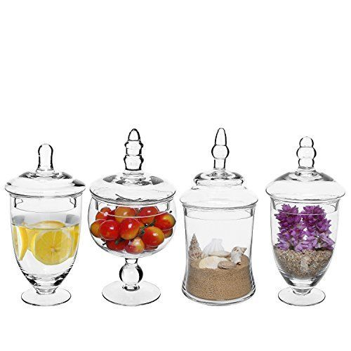 Decorative Clear Glass Jars With Lids  from i.pinimg.com