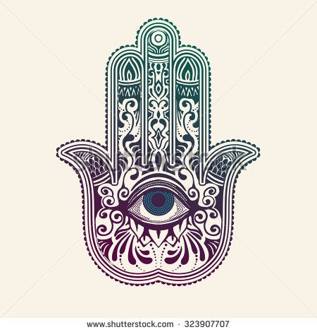 hamsa or hand of fatima good luck charm vector illustration stock vector dise os. Black Bedroom Furniture Sets. Home Design Ideas