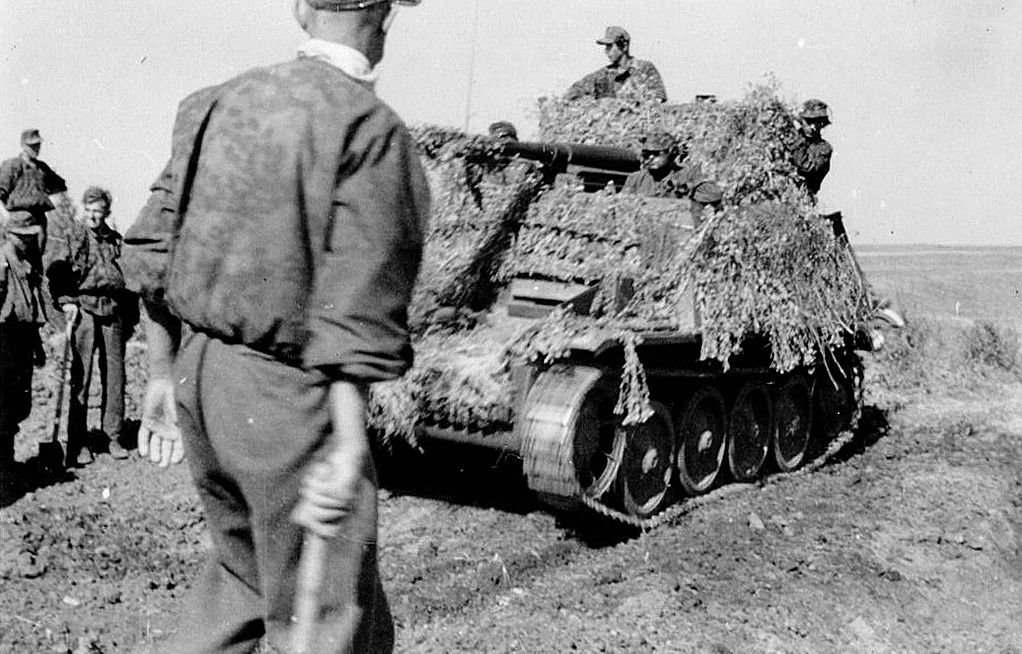 The tanks and panzergrenadiers of the Wiking Division advance, covering endless plains and rapidly seizing terrain further to the East in the summer of 1942. Colonel-General Ewald von Kleist's panzers were unleashed in the second week of July and smashed through the weak Soviet defences at Rostov. The Wiking Division took part in the clearing of the city before it was ordered to lead the advance southwards, with the 13th Panzer Division, as part of LVII Panzer Corps.