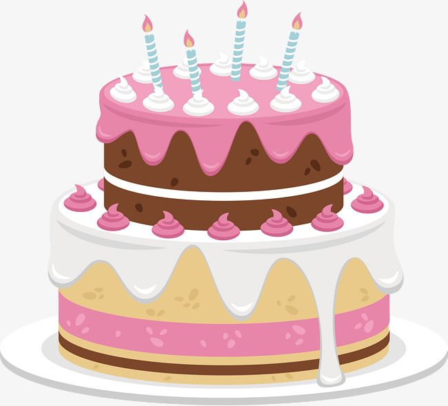 Sweet Chocolate Birthday Cake Cake Clipart Vector Png Pink Cake